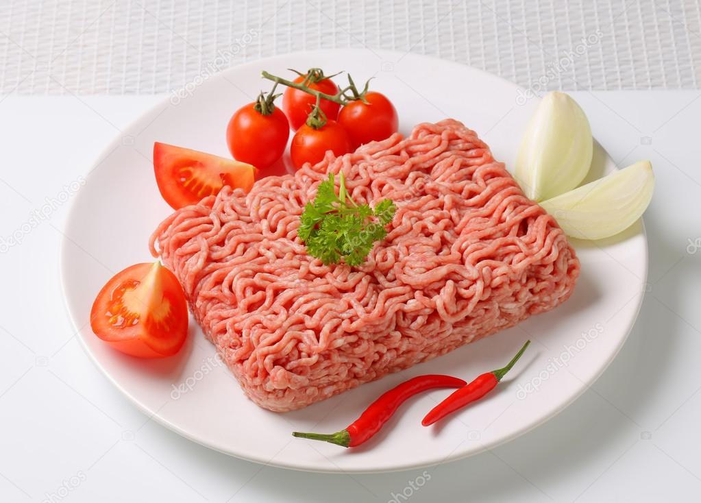 Pernil Suíno Resfriado Moído 1Kg Chef Meat pacote PCT