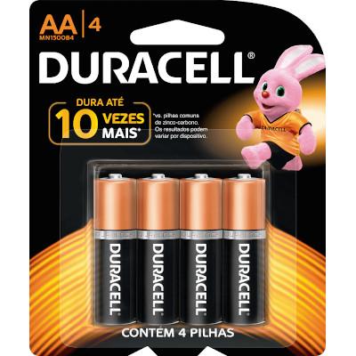 XXPilha Alcalina AA 4 unidades Duracell pacote UN