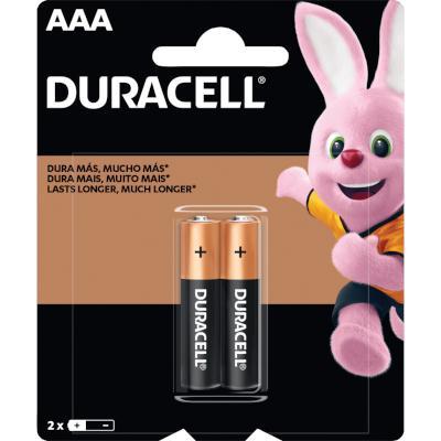 Pilha Alcalina AAA palito 2 unidades Duracell pacote UN