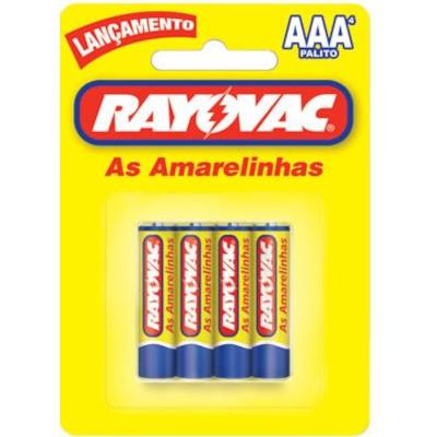 Pilha Comum AAA palito 4 unidades Rayovac pacote UN