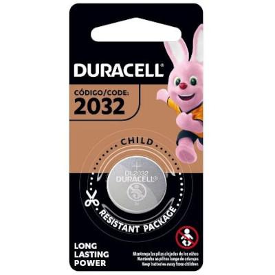 Pilha de Lithium bateria moeda 2032 1 unidades Duracell  UN