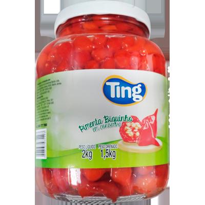Pimenta Biquinho em Conserva 1,5kg Ting  UN