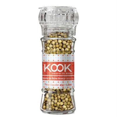 Pimenta do reino branca com moedor 45g Kook  UN