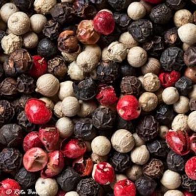 Pimenta do reino preta, branca e rosa em grão por kg Empório Gênova a granel KG