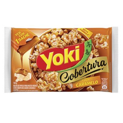 Pipoca de microondas sabor Caramelo 160g Yoki pacote UN