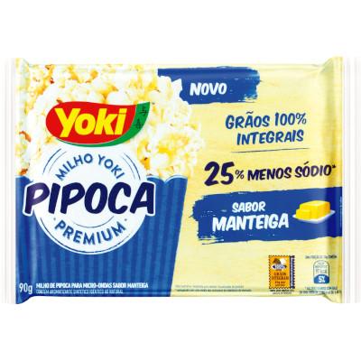 Pipoca de microondas sabor manteiga 90g Yoki pacote UN