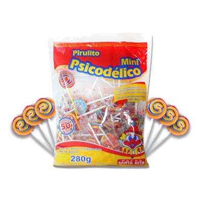 Pirulito psicodélico mini 280g Miguelito pacote UN