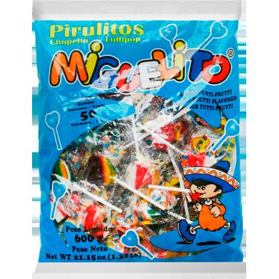 Pirulito sabor morango 600g Miguelito/Coração pacote PCT