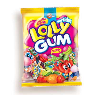 Pirulito sabores sortidos 50 unidades Lolly Gum pacote UN