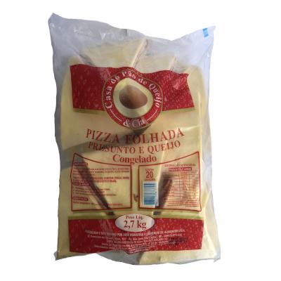 Pizza Folhada de Presunto e Queijo 20 unidades Casa do Pão de Queijo pacote 3kg PCT