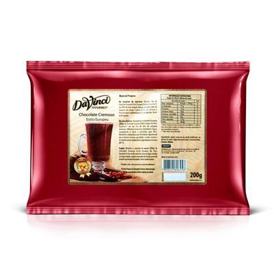 Pó para o preparo de chocolate quente cremoso Gourmet 200g Da Vinci pacote UN