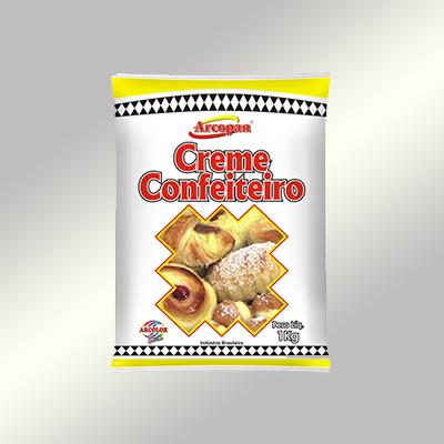 Pó para preparo de creme confeiteiro 1kg Arcolor pacote PCT