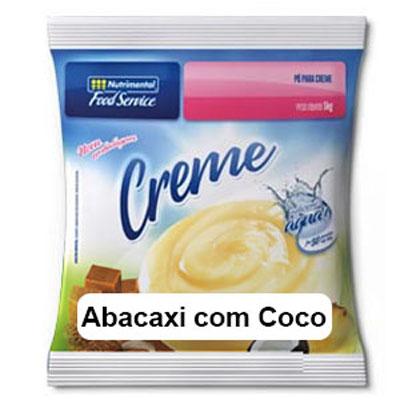Pó para preparo de creme sabor abacaxi com coco 1kg Nutrimental pacote UN