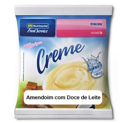 Pó para preparo de creme sabor amendoim com doce de leite 520g Nutrimental pacote UN