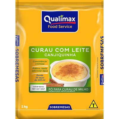 Pó para preparo de creme sabor curau com leite 1kg Qualimax pacote PCT