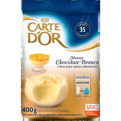 Pó para preparo de Mousse sabor chocolate branco 400g Carte D'or pacote PCT