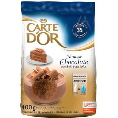 Pó para preparo de Mousse sabor chocolate 400g Carte D'or pacote PCT