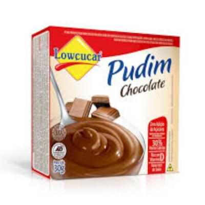 Pó para preparo de Pudim sabor chocolate diet 30g Lowçucar caixa UN
