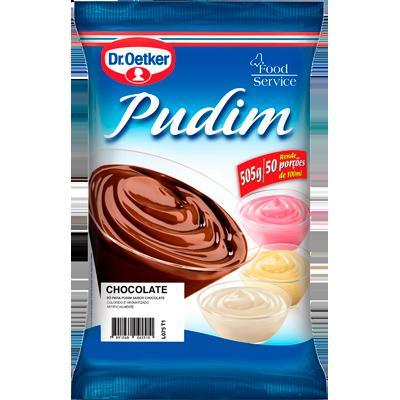 Pó para preparo de Pudim sabor chocolate 500g Dr. Oetker pacote PCT