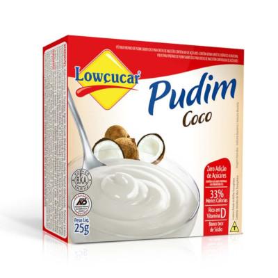 Pó para preparo de Pudim sabor coco diet 25g Lowçucar caixa UN