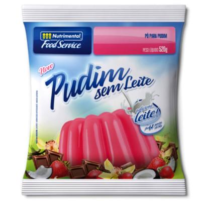 Pó para preparo de Pudim sabor coco sem leite 520g Nutrimental pacote PCT