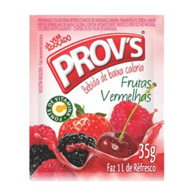 Pó para preparo de suco sabor frutas vermelhas 15 unidades de 35g Provs caixa CX