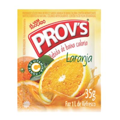 Pó para preparo de suco sabor laranja 15 unidades de 35g Provs caixa CX