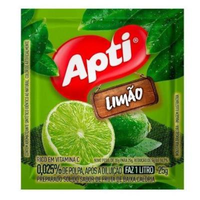 Pó para preparo de suco sabor limão 25g Apti pacote UN