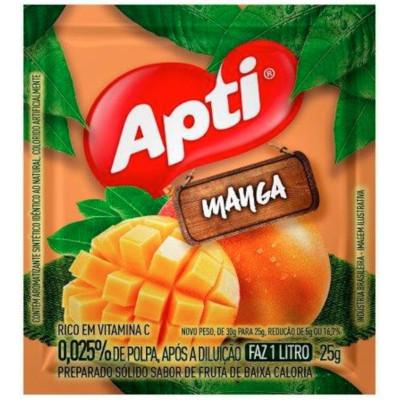 Pó para preparo de suco sabor manga 25g Apti pacote PCT