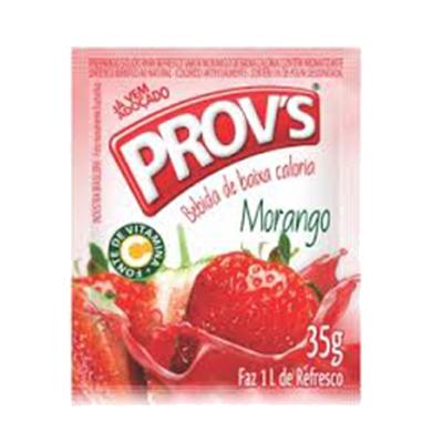 Pó para preparo de suco sabor morango 15 unidades de 35g Provs caixa CX