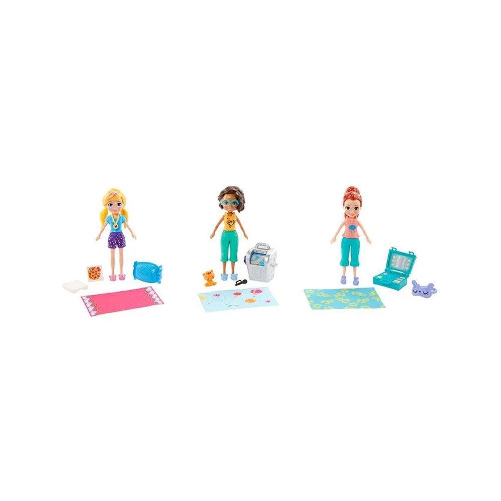 Polly Pocket 3 Bonecas Clubhouse Polly Lila e Shani Verde unidade Mattel  UN
