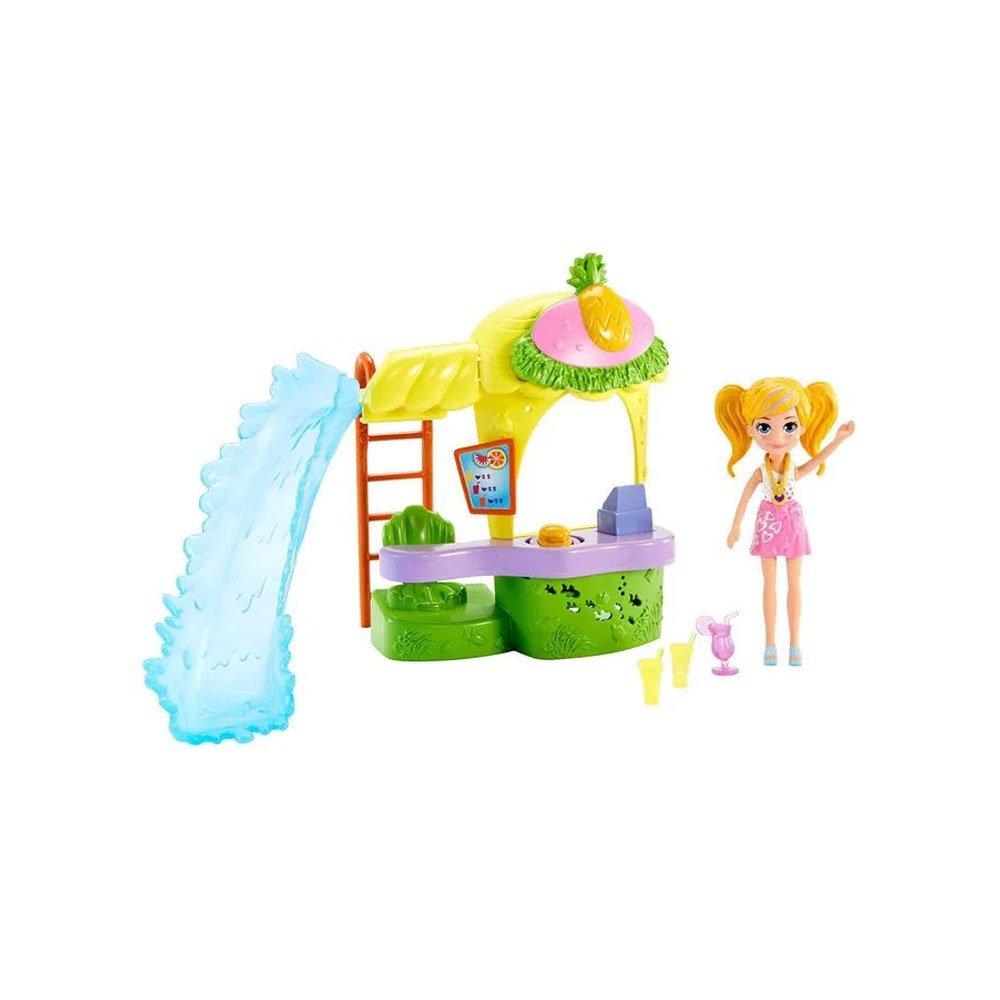 Polly Pocket Nova Polly Quiosque Parque dos Abacaxis e Quiosque Vitamina Verde unidade Mattel  UN
