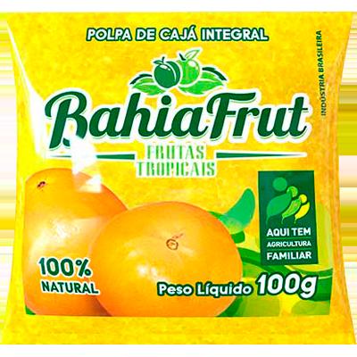 Polpa de cajá congelado 100g BahiaFrut  UN