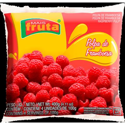 Polpa de framboesa congelado 100g Mais Fruta  UN