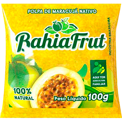 Polpa de maracujá congelado 100g BahiaFrut  UN