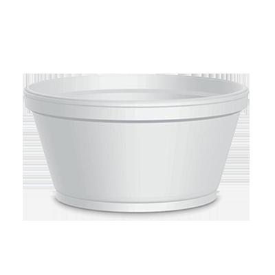 Pote descartável para sorvete 150 ml 30 unidades Jin pacote UN