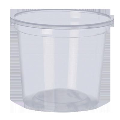 Pote descartável plástico 250ml 50 unidades Copobras pacote UN