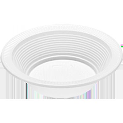 Prato descartável branco 15cm fundo 10 unidades Totalplast pacote UN