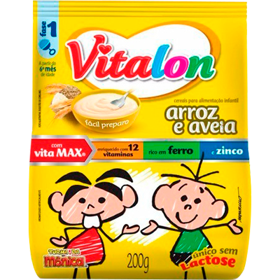 Preparo para Mingau sabor Arroz com Aveia 200g Vitalon pacote UN