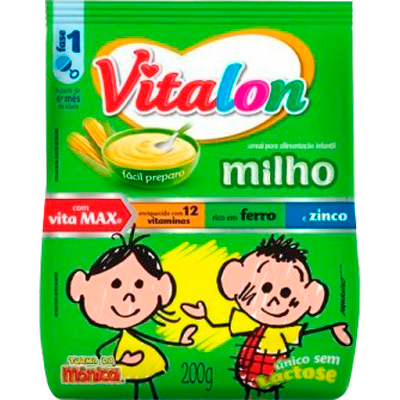 Preparo para Mingau sabor Milho 200g Vitalon pacote UN