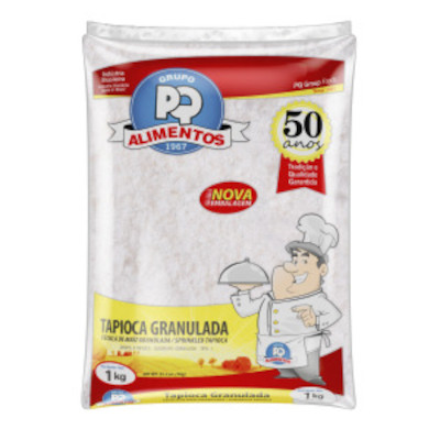 Preparo para Tapioca granulada 1kg PQ Alimentos pacote PCT