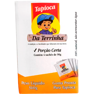 Preparo para Tapioca  360g Da Terrinha pacote PCT