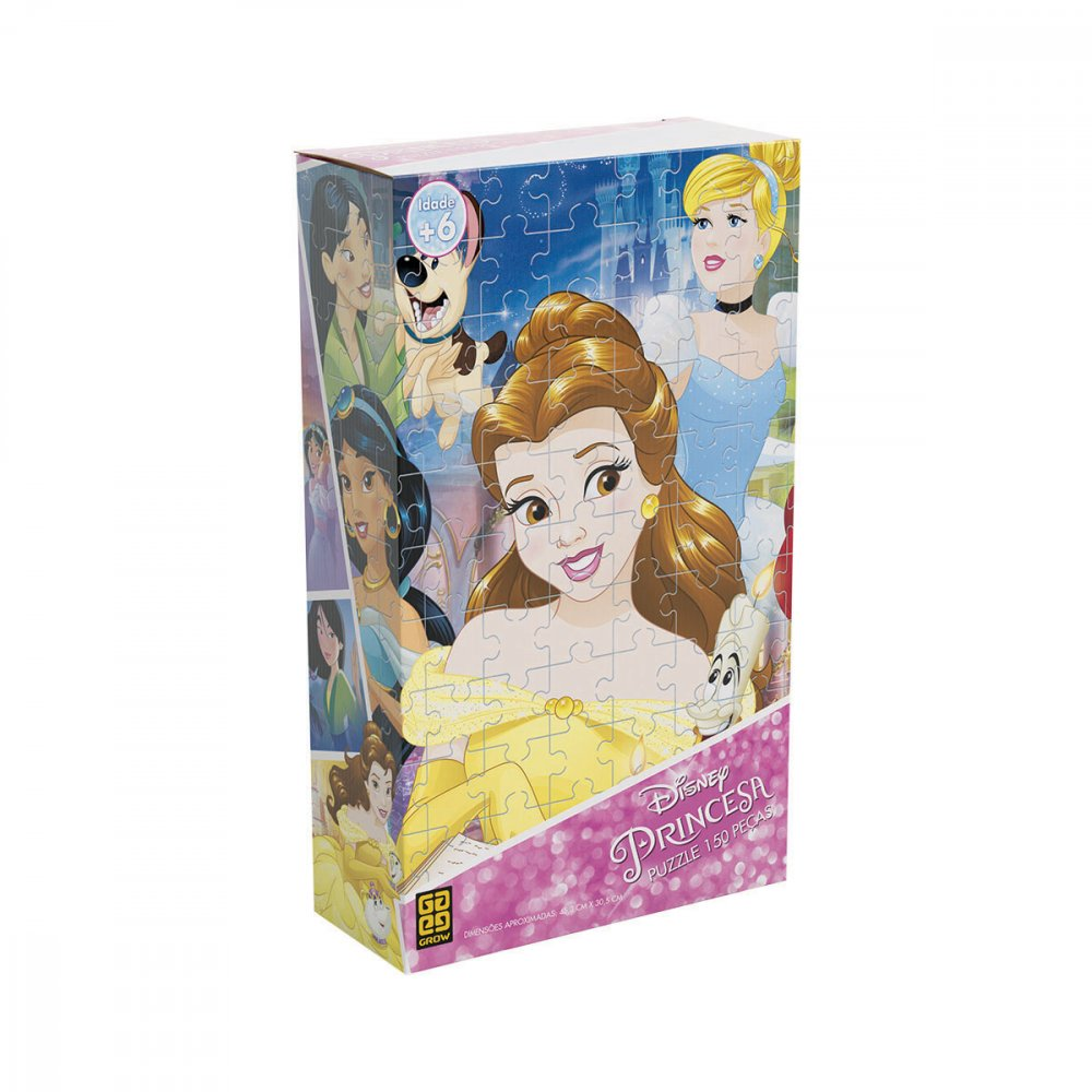 Quebra-Cabeça Infantil Princesas Disney 2164 150 peças Grow  UN
