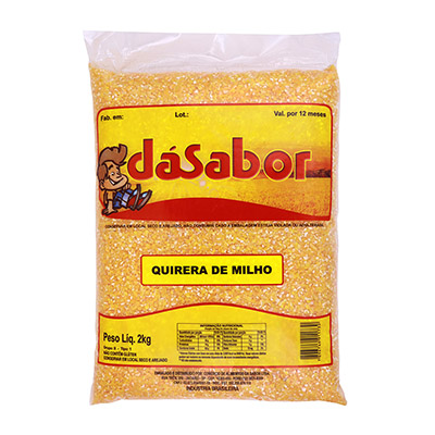 Quirera de Milho  2kg DáSabor pacote PCT