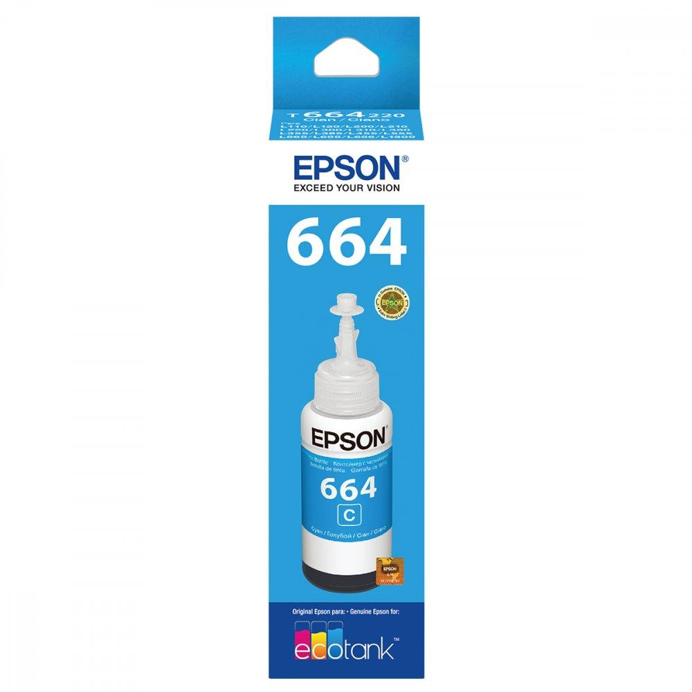 Refil de Tinta 664 T664220 cor Ciano unidade Epson  UN