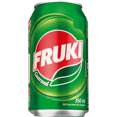 Refrigerante Guaraná 350ml Fruki lata UN