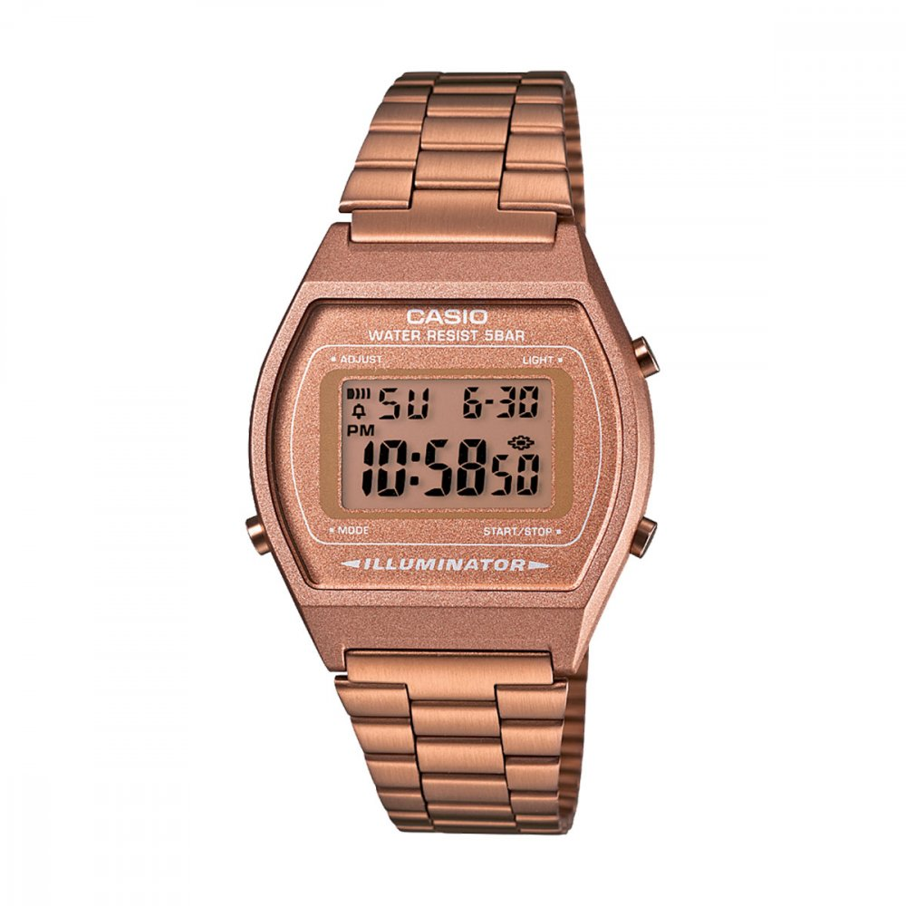 Relógio de Pulso Feminino Digital Vintage B640WC-5ADF Rosa Claro unidade Casio  UN