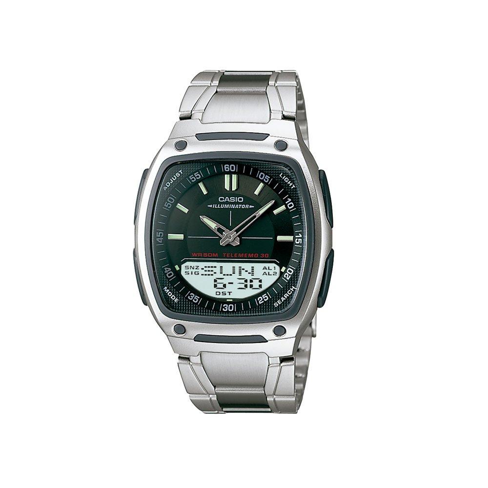 Relógio de Pulso Masculino Anadigi AW-81D-1AVDF Prata unidade Casio  UN