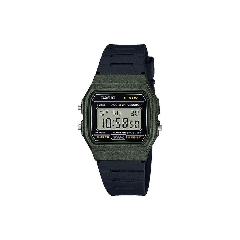 Relógio de Pulso Unissex Digital Standard F-91WM-3ADF Preto unidade Casio  UN
