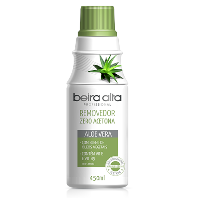 Removedor de Esmalte Zero Acetona Aloe Vera 450ml Beira Alta  UN
